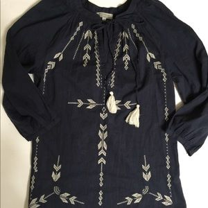 World Market Embroidered Flowy Top size Small